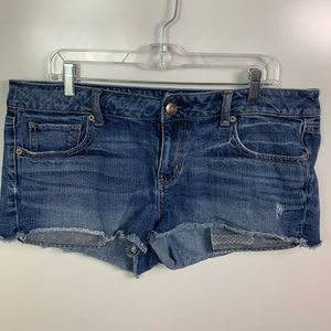 american eagle jean shorts womens size 14